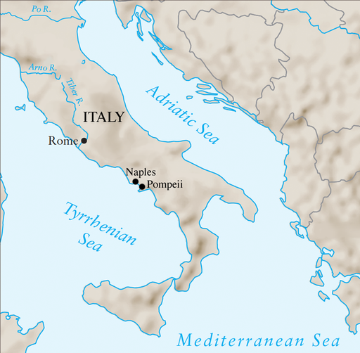 Where Is Pompeii On A Map Of Italy.The Ancient Romans In Pompeii Home